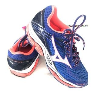 Mizuno 8 Wave Enigma 6 Blue Orange Walking Shoe